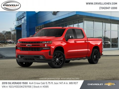 Red Hot Chevrolet Silverado 1500 RST Crew Cab 4WD.  Click to enlarge.