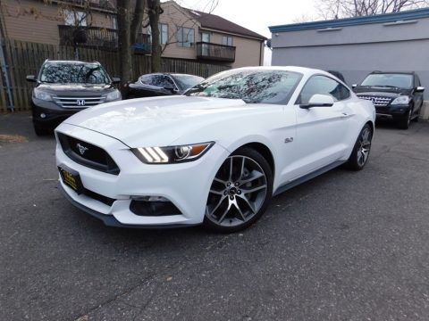Oxford White Ford Mustang GT Premium Coupe.  Click to enlarge.