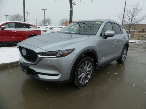 Sonic Silver Metallic Mazda CX-5 Grand Touring Reserve AWD.  Click to enlarge.
