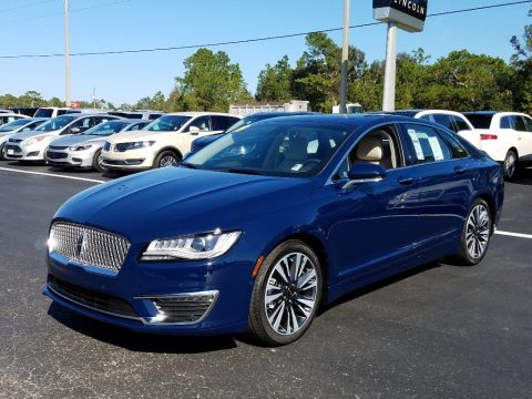 Rhapsody Blue Lincoln MKZ Hybrid Reserve II.  Click to enlarge.