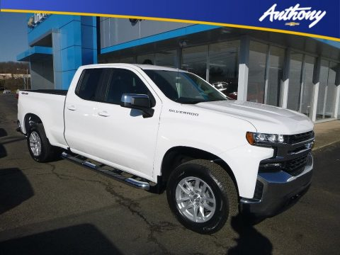 Summit White Chevrolet Silverado 1500 LT Double Cab 4WD.  Click to enlarge.