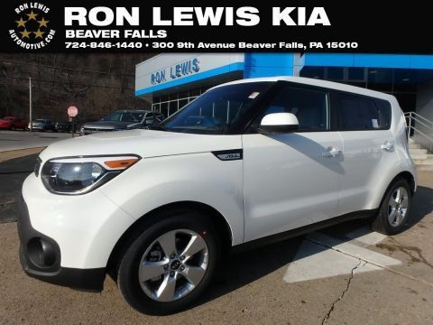 Clear White Kia Soul .  Click to enlarge.