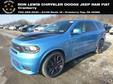 Surf Blue Pearl Dodge Durango SRT AWD.  Click to enlarge.