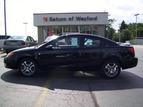 Black Onyx 2005 Saturn ION 3 Quad Coupe with Black interior Black Onyx