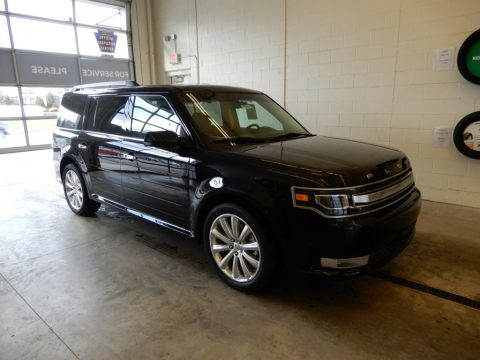 Agate Black Ford Flex Limited AWD.  Click to enlarge.