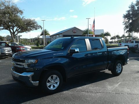 Northsky Blue Metallic Chevrolet Silverado 1500 LT Crew Cab.  Click to enlarge.