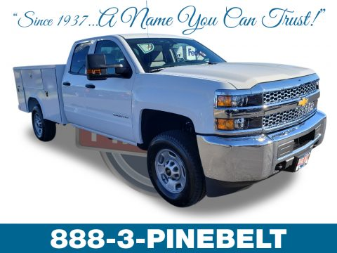 Summit White Chevrolet Silverado 2500HD Work Truck Crew Cab 4WD Chassis.  Click to enlarge.