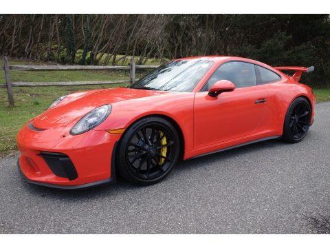 Lava Orange Porsche 911 GT3.  Click to enlarge.
