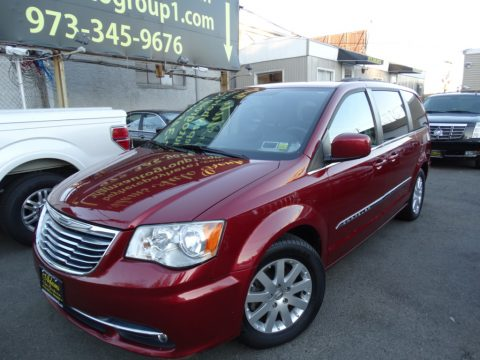 Deep Cherry Red Crystal Pearl Chrysler Town & Country Touring.  Click to enlarge.