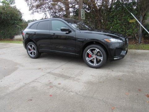 Santorini Black Metallic Jaguar F-PACE S AWD.  Click to enlarge.