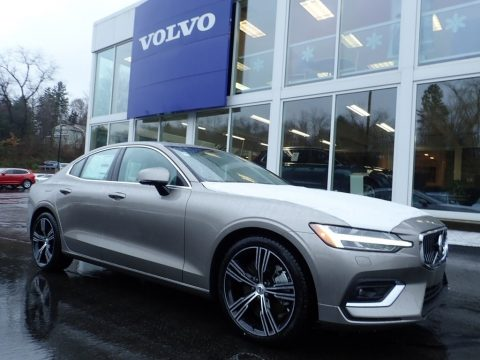 Pebble Gray Metallic Volvo S60 T6 Inscription AWD.  Click to enlarge.