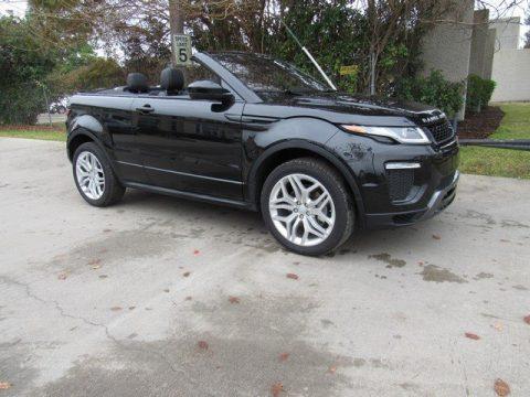 Santorini Black Metallic Land Rover Range Rover Evoque Convertible HSE Dynamic.  Click to enlarge.
