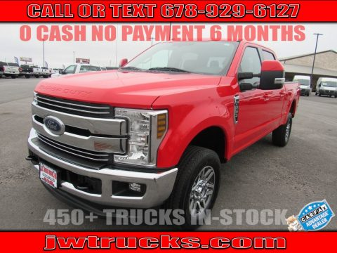 Race Red Ford F250 Super Duty Lariat Crew Cab 4x4.  Click to enlarge.