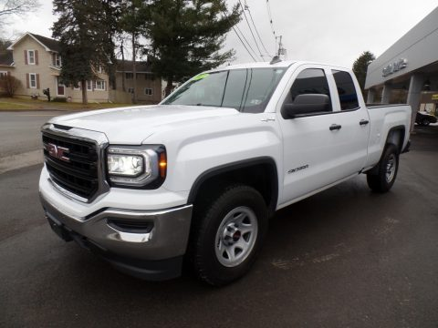 Summit White GMC Sierra 1500 Elevation Edition Double Cab 4WD.  Click to enlarge.