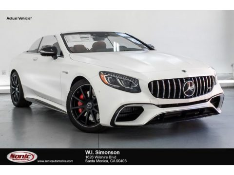 designo Cashmere White (Matte) Mercedes-Benz S AMG 63 4Matic Cabriolet.  Click to enlarge.