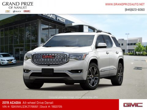 White Frost Tricoat GMC Acadia Denali AWD.  Click to enlarge.