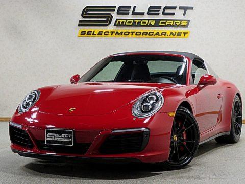 Guards Red Porsche 911 Targa 4S.  Click to enlarge.