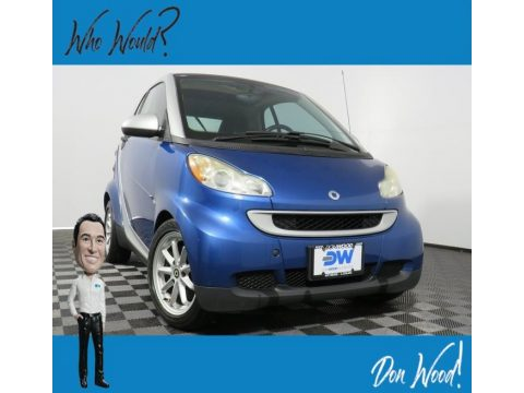 Blue Metallic Smart fortwo passion coupe.  Click to enlarge.