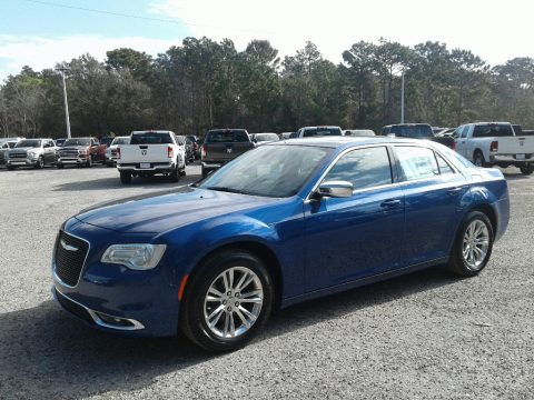 Ocean Blue Metallic Chrysler 300 Touring.  Click to enlarge.
