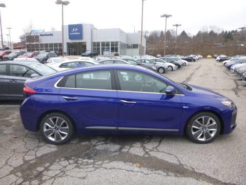 Intense Blue Hyundai Ioniq Hybrid Limited.  Click to enlarge.