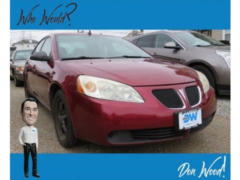 Performance Red Metallic Pontiac G6 Sedan.  Click to enlarge.