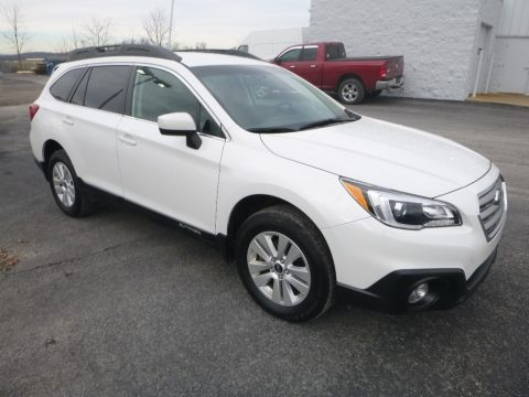 Crystal White Pearl Subaru Outback 2.5i Premium.  Click to enlarge.