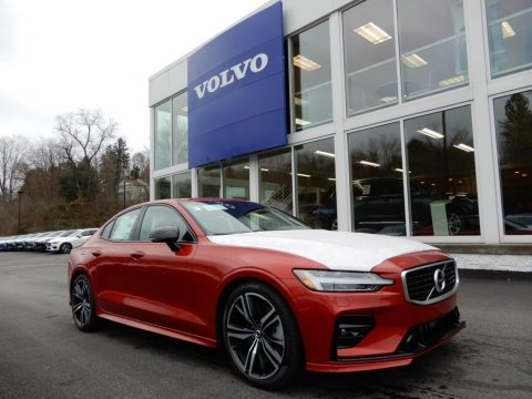 Fusion Red Metallic Volvo S60 T6 AWD R Design.  Click to enlarge.