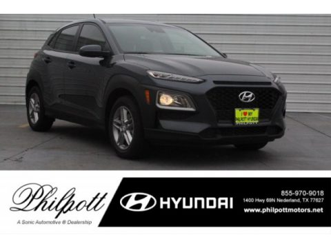 Thunder Gray Hyundai Kona SE.  Click to enlarge.
