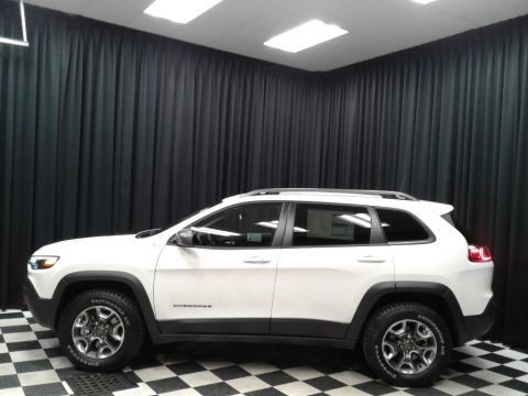 Pearl White Jeep Cherokee Trailhawk 4x4.  Click to enlarge.