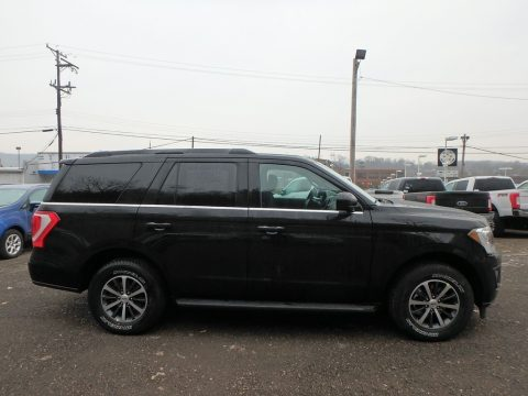 Agate Black Metallic Ford Expedition XLT 4x4.  Click to enlarge.