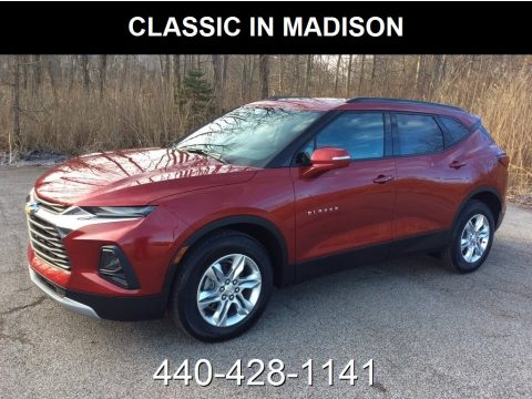 Cajun Red Tintcoat Chevrolet Blazer 3.6L Leather AWD.  Click to enlarge.