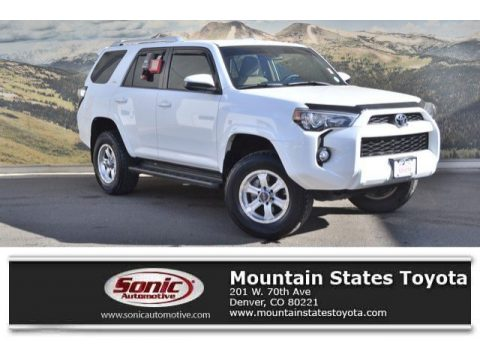 Super White Toyota 4Runner SR5 4x4.  Click to enlarge.