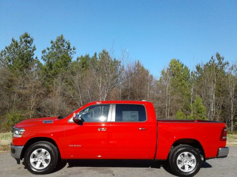 Flame Red Ram 1500 Laramie Crew Cab 4x4.  Click to enlarge.