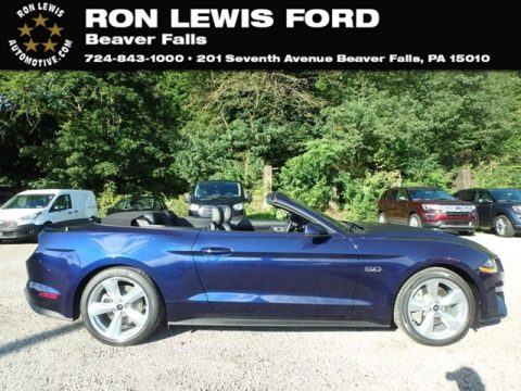 Kona Blue Ford Mustang GT Premium Convertible.  Click to enlarge.