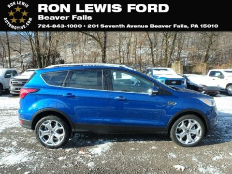 Lightning Blue Ford Escape Titanium 4WD.  Click to enlarge.