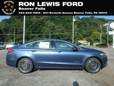 Blue Metallic Ford Fusion Hybrid SE.  Click to enlarge.