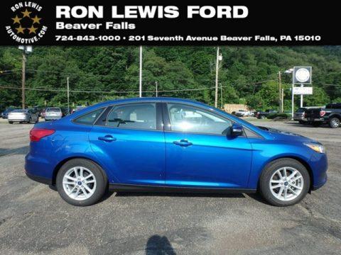 Lightning Blue Ford Focus SE Sedan.  Click to enlarge.