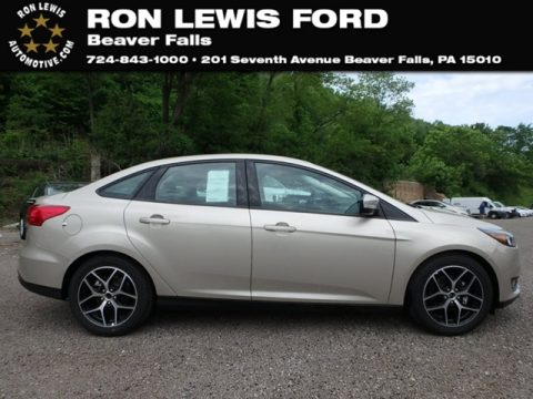 White Gold Ford Focus SEL Sedan.  Click to enlarge.