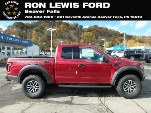 Ruby Red Ford F150 SVT Raptor SuperCab 4x4.  Click to enlarge.