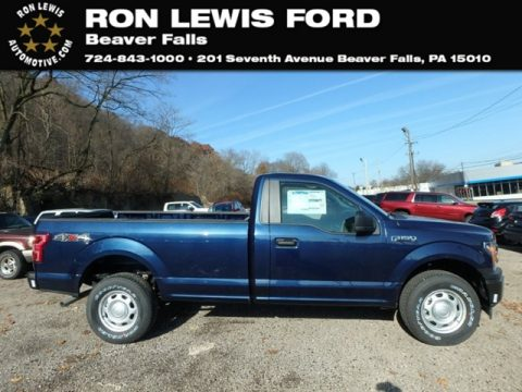 Blue Jeans Ford F150 XL Regular Cab 4x4.  Click to enlarge.
