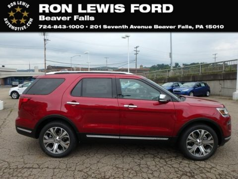 Ruby Red Ford Explorer Platinum 4WD.  Click to enlarge.