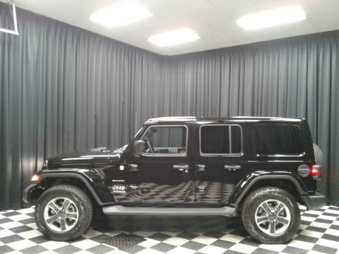 Black Jeep Wrangler Unlimited Sahara 4x4.  Click to enlarge.