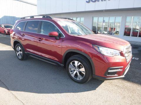 Crimson Red Pearl Subaru Ascent Premium.  Click to enlarge.