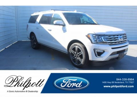 White Platinum Metallic Tri-Coat Ford Expedition XLT.  Click to enlarge.