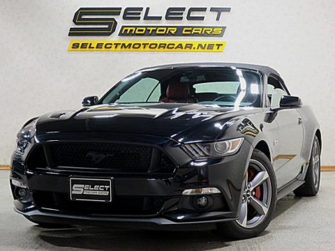 Shadow Black Ford Mustang GT Premium Convertible.  Click to enlarge.