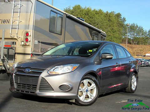 Sterling Gray Ford Focus SE Sedan.  Click to enlarge.