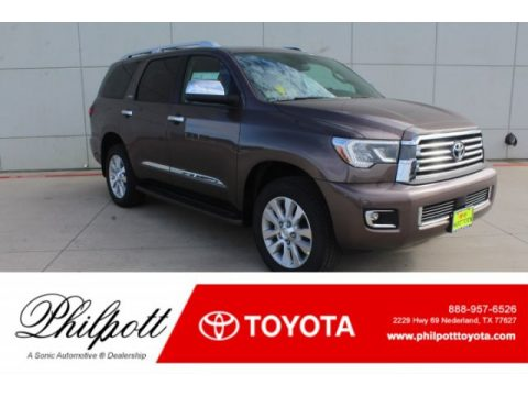 Toasted Walnut Pearl Toyota Sequoia Platinum 4x4.  Click to enlarge.