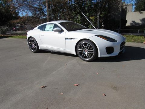Fuji White Jaguar F-Type R-Dynamic Coupe.  Click to enlarge.