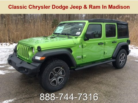 Mojito! Jeep Wrangler Unlimited Sport 4x4.  Click to enlarge.