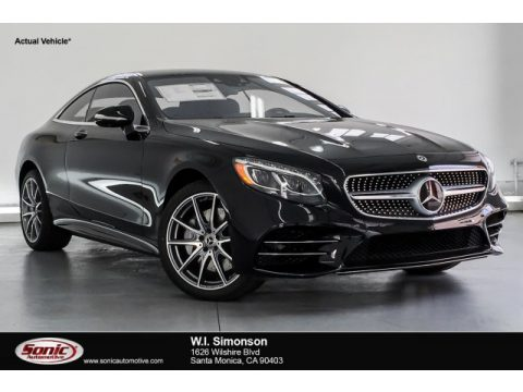 Black Mercedes-Benz S 560 4Matic Coupe.  Click to enlarge.